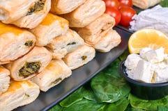 Torte con spinaci fotografia stock