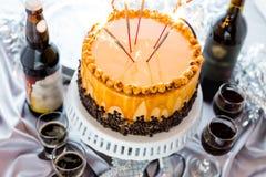 Torte de la avellana Foto de archivo libre de regalías