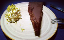 Torte delicioso de Sacher Imagen de archivo libre de regalías