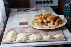 Torte della Camera con cipolle ed uovo Fotografia Stock