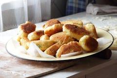 Torte della Camera con cipolle ed uovo Immagine Stock