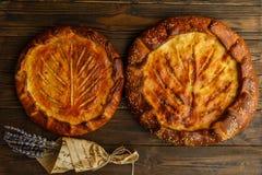 Torte della Provenza, prima colazione deliziosa e pasticcerie fragranti fotografia stock
