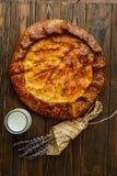 Torte della Provenza, prima colazione deliziosa e pasticcerie fragranti fotografie stock