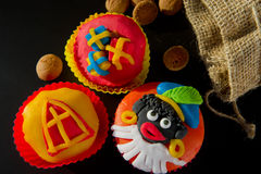 Torte della tazza di Sinterklaas Fotografia Stock