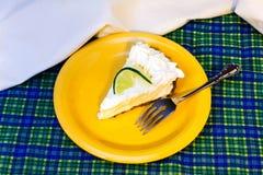 Torte der echten Limette Stockbild