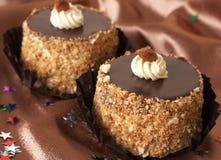 Torte di cioccolato miniatura Immagine Stock