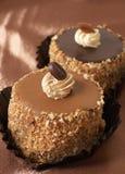 Torte di cioccolato miniatura Fotografia Stock