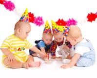 Torte di compleanno Fotografia Stock