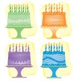 Torte di compleanno Fotografia Stock Libera da Diritti