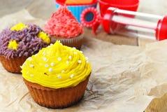 Torte di compleanno dolci di natale di pasqua Immagine Stock