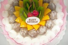 Torte di compleanno, progettazione delle pasticcerie Immagini Stock Libere da Diritti
