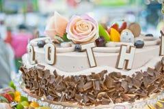 Torte di compleanno, progettazione delle pasticcerie Fotografia Stock Libera da Diritti