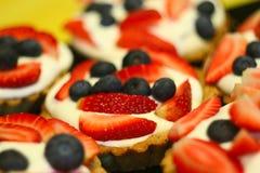 Torte di frutta fresche Fotografia Stock