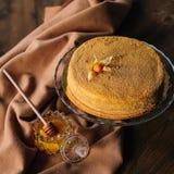 Torte di miele casalinghe Immagine Stock