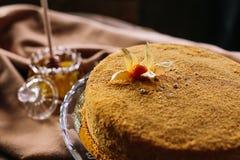 Torte di miele casalinghe Fotografia Stock Libera da Diritti