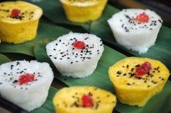 Torte di riso variopinte dello spuntino di Chengdu fotografia stock