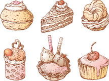 Torte dolci Fotografie Stock Libere da Diritti