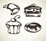 Torte e dolci illustrazione di stock