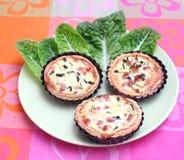Torte fresche con lo zucchini ed il bacon Fotografia Stock