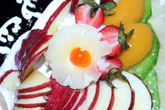 Torte with fruits Stock Images