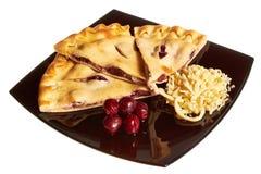 Torte getrennt auf Weiß Lizenzfreies Stockbild
