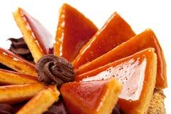 Torte hongrois de Dobos - gâteau Photographie stock
