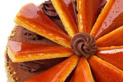 Torte hongrois de Dobos - gâteau Images libres de droits