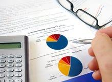 Torte-Investitionsdiagramm. Stockbilder
