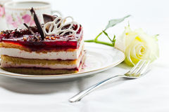 Torte with jelly Stock Images