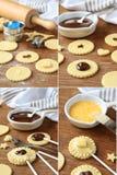 Torte knallt mit dem schrittweisen cocolate Stockfoto