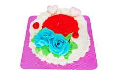 Torte with marzipan roses Stock Images