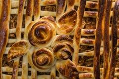 Torte mit Äpfeln Lizenzfreies Stockfoto