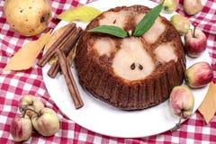 Torte mit Birnen Stockfotos