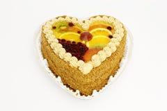 Torte mit Frucht Stockbild