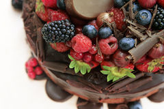 Torte mit Frucht Stockbilder