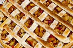 Torte mit Pfirsich und Apfel Lizenzfreies Stockbild