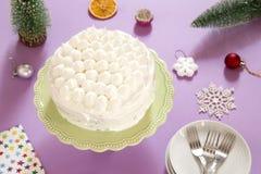Torte mit Sahne lizenzfreies stockbild