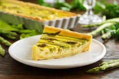 Torte mit Spargel Lizenzfreies Stockbild