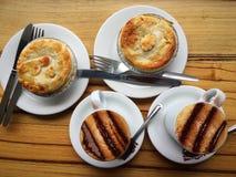 Torte und Torte Stockbild