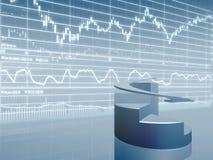 Tortediagramm mit Marktdaten Stockbilder
