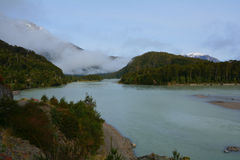 Tortel River, Chilean Patagonia Royalty Free Stock Photography