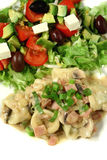 tortellini σάλτσας carbonara Στοκ φωτογραφία με δικαίωμα ελεύθερης χρήσης