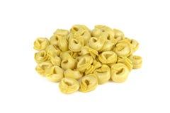 Tortellini, свежие макаронные изделия яичка, итальянская еда Стоковое Изображение
