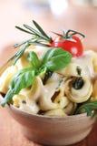 tortellini соуса сыра arugula Стоковое Фото
