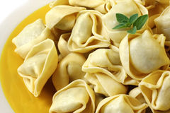 Tortellini. Fresh tortellini, ready for cooking. Delicious stuffed pasta stock image
