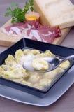 Tortellini alla bolognese Stock Photo