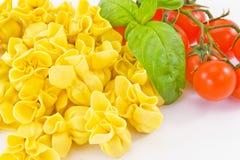 Tortellini angefüllt mit Fleisch Stockfotografie