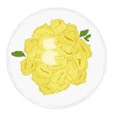 Tortellini avec du beurre et la sauge. Photo libre de droits