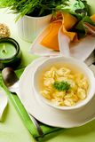 Tortellini in bouillon Royalty Free Stock Photos