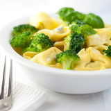 Tortellini with broccoli Royalty Free Stock Photography